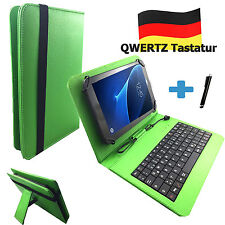 Teclado Alemán Funda Vodafone Tab principal 7 10.1 zoll Tablet Qwertz Verde