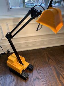 Excavator Backhoe Construction Equipment Swing Arm Architect Desk Lamp Organizer