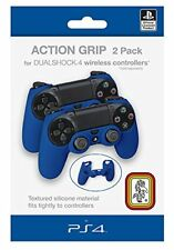 2 Housse Bleue Silicone Action Grip Pour Manette Playstation 4 Neuf