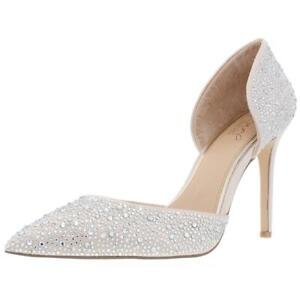 Jewel Badgley Mischka Womens Alexandra Pointed Toe Heels 8 Medium (B,M) 0974