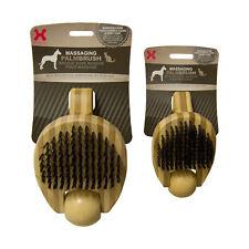 Hugs Pet Products Massaging Pet Palm Brush Small Brown