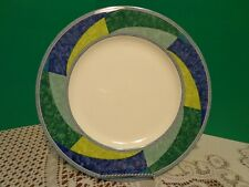 Salad Plate Mikasa Ultima Plus HK230  Blue Green Geometric Print Ceramic