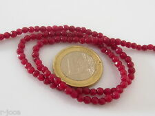 1 filo in radice di rubino sfere sfaccettate di 3,2 mm contiene circa 160 pietre