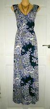 BEAUTIFUL BONMARCHE SOFT STRETCH JERSEY MAXI DRESS BOLD FULL PATTERN SIZE 18