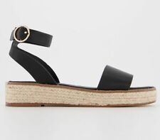Womens Office Mimoko Cross Strap Espadrilles Black Heels