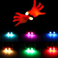 1 pair Creative Magic Light Up Thumbs Fingers Trick Appearing Light Close Up Toy