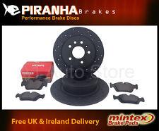 Merc E-Class E250 W212 09- Front Brake Discs Black Drilled Only Mintex Pads