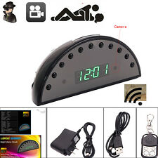 1080P HD Alarm Clock Camera Motion Mini DVR Night Vision Digital Video /w Remote