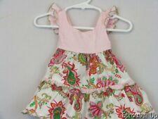 ICKY BABY dress sz 3-6 months paisley seersucker pink white green