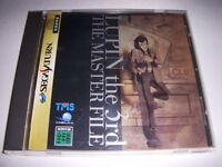 Sega Saturn Lupin the 3rd Then Master File Japan SS