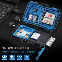 Built-in Card Reader SIM SD TF Card Box Memory Card Case Storage Box