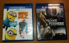 Despicable Me 2 & Transformers Last Knight Blu Ray / DVD Movie Set Tested