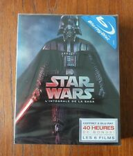 Ancien Coffret DVD Blu-Ray STAR WARS 6 Films.