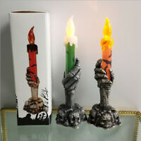 LED Electronic Ghost Candle Light Battery Operated GOOD Halloween Party Dec G1E0