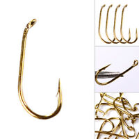 200Pcs Fly Fishing Bait Sharpened Hook Fishhook Tackle Jig Bait Holder Cheap