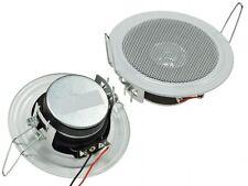 2 x Einbaulautsprecher Decken Lautsprecher weiß Ø 106mm 45 Watt 8 Ohm 21402