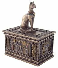 Bastet Ancient Egyptian God Cat Jewelry Keepsake Trinket Box Decorative Figure