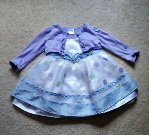 Youngland Girls' 2-Piece Purple Cardigan & Sleeveless Shantung Dress - Size 18M
