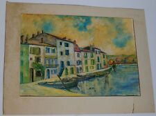 """Martigues '58"" Impressionist painting by Vic Winters"