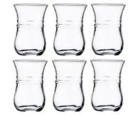 Turkish Tea Glasses Set of 6 Turkish Arabic Tea Cups 118ml 4oz 6 Piece Clear