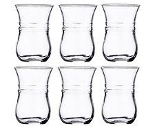 Turkish Tea Glasses Set of 6 Turkish Arabic Tea Cups 118ml 4oz 6 Piece Clear
