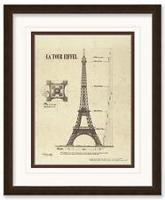 LA TOUR EIFFEL - Premium Art Print FRAMED  21.5 x 17.5 inch