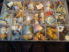 Large Lot Of Homco & Other Figurines Bears Thimbles Plates Miniatures Mini