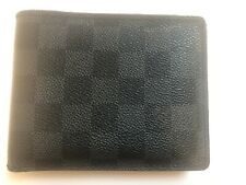 Louis Vuitton Men's wallet Original (SP4039) black an grey 12.5x10cms