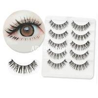 5 Pairs False Eyelashes Long Thick Natural Fake Eye Lashes Set Mink Makeup Tool