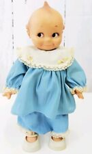 Vintage Kewpie Cameo Hard Plastic doll 12.5� tall Blue Outfit