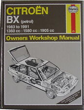 Citroen BX  Haynes Workshop Manual, petrol