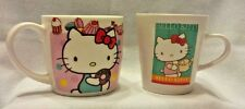 HELLO KITTY - Set of 2 Coffee/Tea Mugs - Sanrio 2005 & 2010