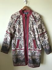 Free People Long Quilted Reversible Jacket M