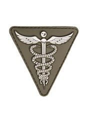 TACTICAL COMBAT MEDIC SANITÄTER 3-D RUBBER KLETT PATCH AIRSOFT PAINTBALL OLIV