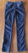 SABA DENIM | Womens Dark Wash Blue Mid Rise Skinny Stretch Denim Jeans 28