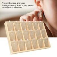Wooden Jewelry Display Tray Showcase Storage Case For Earring Bangle Necklace