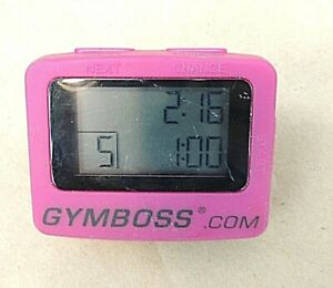 GYMBOSS. COM, INTERVAL TIMER AND STOP WATCH,  PINK