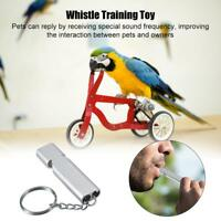 2pc Silver Color Whistle for Bird/Pigeon/Parrot/Pet Training Metal Top Quality
