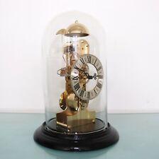 KIENINGER Mantel TOP! Clock Vintage TRANSLUCENT Dome SKELETON Bell Chime Germany