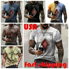 New listing Men's T-shirt Graphic Printing Bodybuilding Training Outdoor Casual Short Sleeve