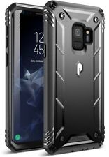 For Samsung Galaxy  9 Case Heavy Duty Black Full Body Protective Cover TPU