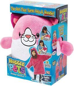 Huggle Pets Pink Kitty Animal Hoodie Sweatshirt & Plush Toy, As Seen on TV