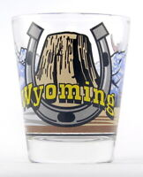 WYOMING 3 VIEW SHOT GLASS SHOTGLASS