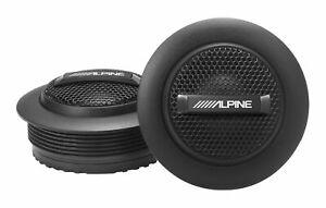 "Pair Alpine S-S10TW 240 Watt 1"" Inch Silk Dome Car Audio Tweeters w/ Crossovers"