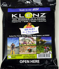 Klenz XXL Shower In a Towel Camping Festival Travel Sports Washing Pre-Moistened