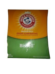 NEW Arm & Hammer Bissell 7 Odor Eliminating 7 Vacuum Bags # 62615D