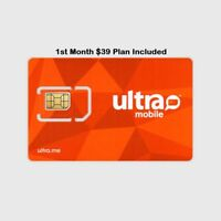PreLoaded Ultra Mobile SIM Card+$39 Plan 1st Month INCLUDED