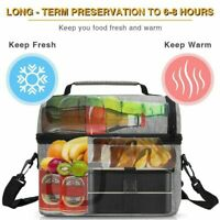Insulated Lunch Bag Leakproof Thermal Bento Cooler Food Tote Box Adults Men Kids