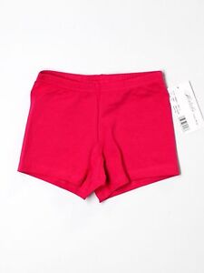 New Girl Natalie Hot Pink Fucia Booty Dance Shorts Size Child L CL LC