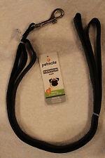 "ASPEN PETMATE ""FASHION"" Small DOG LEASH - Faux Ostrich (black) 5/8"" x 6'"